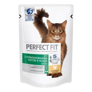 Корм для кошек Perfect Fit Влажный для стерилизованных котов и кошек фото