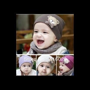 Шапка AliExpress Wholesales Winter Warm Cotton Cartoon Bear Infant Toddler Kids Children Baby Hat Cap Beanies фото