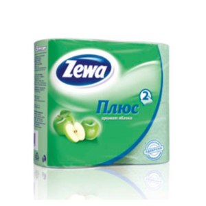 Туалетная бумага Zewa Плюс  аромат яблока фото