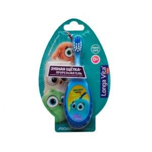 Зубная щетка ROVIO -прорезыватель Longa Vita, Angry Birds Hatchlings, с 0 мес.  фото