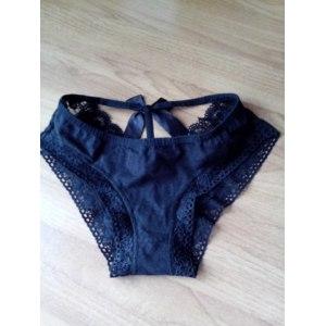 Трусики Aliexpress Hot Selling Black Sexy Lace Seductive Sheer Underwears lingerie W M3AO фото