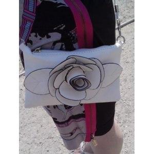 Сумочка Aliexpress Hot New Fashion Big Flower Faux PU Leather Clutch Sling Shoulder Bags Handbag Casual Zip Purse bag 4 Colors B364 free shipping фото