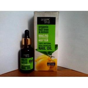 Масло для ногтей ORGANIC SHOP для укрепления  tea tree & lemon фото