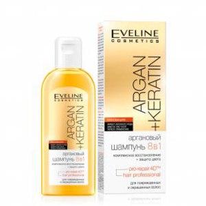 Шампунь Eveline Аргановый 8 в 1 для поврежденных и окрашенных волос фото