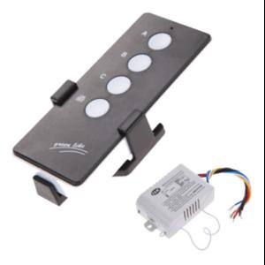 Набор для дистанционного управления люстрой Ebay 220V 3 Way Port ON/OFF Digital RF Remote Control Switch Wireless For Light Lamp фото