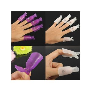 Зажим-клипса для снятия гель-лака Aliexpress 1Set/10PCS Salon DIY Nail Art Tool Acrylic UV Gel Polish Remover Soaker Clip Cap Wrap фото