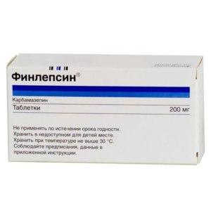 Таблетки  Финлепсин (карбамазепин 200 мг) фото