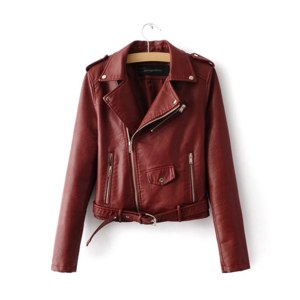 Куртка косуха AliExpress Aelegantmis Autumn New Short Soft Faux Leather Jacket Women Fashion Zipper Motorcycle PU Leather Jacket Ladies Basic Street Coat фото