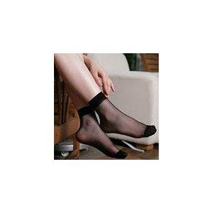 Носки AliExpress 40PCS=20PAIRS=1 LOT Crystal Silk Ultra-thin Transparent Women Short Socks X02 фото