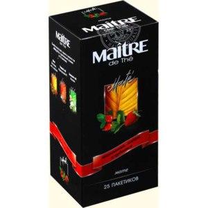 Чай    Maitre de the: Мате,  шиповник, мята, клубника фото