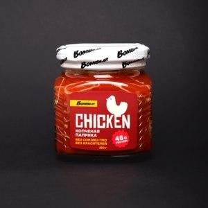 """Консервы мясные Bombbar из мяса птицы в соусе стерилизованные """"Куриное филе грудки с копченой паприкой"""" фото"""