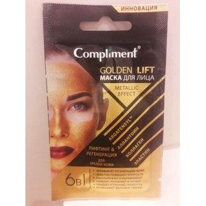 Маска для лица Compliment Gold lift metallic effect фото
