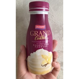 Молочный коктейль Ehrmann Grand Cocktail со вкусом ванильный пломбир  фото