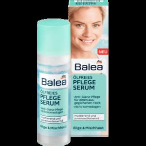 Сыворотка-уход Balea без масла Ölfreies Pflege-Serum матирующая и сужающая поры для жирной и смешанной кожи фото