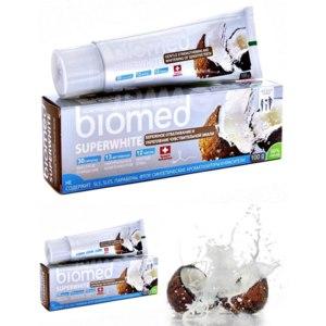 Отбеливающая зубная паста Biomed SUPERWHITE с кокосовым маслом фото
