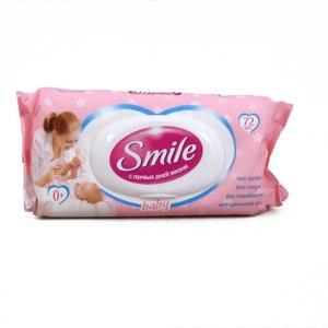 Влажные салфетки Smile Ультрамягкие с первых дней жизни Baby фото