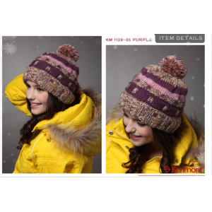 Шапка AliExpress Hats Caps Women Winter Of Two Colors Hot Promotional Wool Hat Hand Knitted Beanie Hat KM-1128 фото