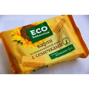 Вафли Eco botanica из цельносмолотой муки с семечками фото