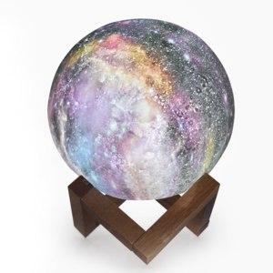 Светильник светодиодный Joom 3D Led Paint Starry Sky Color Change Magic Ball Galaxy Moon Light Wooden Holder Xmas Decor Gift фото