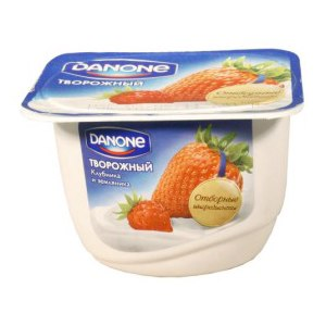Десерт творожный Danone 170 г. Клубника и земляника фото