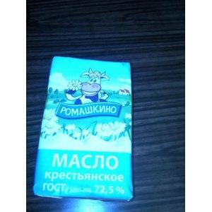 Масло сливочное РОМАШКИНО крестьянское высший сорт 72,5 % жира   фото