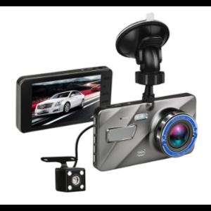 "4/"" Vehicle 1080P HD Car DVR Camera Video Recorder Dash Cam G-Sensor Dual Lens"