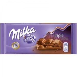 Шоколад молочный Milka Triple Choco Cocoa  фото