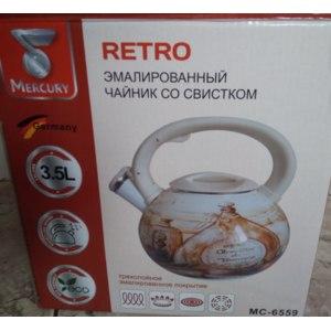 Чайник со свистком Mercury Retro фото