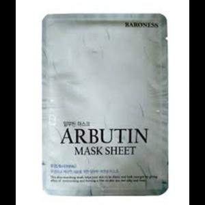Тканевая маска Baroness Airlaid Face Mask ARBUTIN с арбутином фото