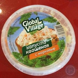 Капуста  квашеная Global Village с морковью фото