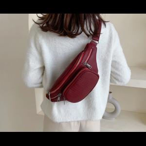 Сумка Женская Aliexpress Fashion Stone Pattern PU Leather Chain Waist Bag Bananka Bag on A Belt Leisure Fanny Pack Women Satchel Belly Band Belt Bag фото