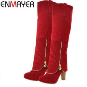 Сапоги Aliexpress ENMAYER Flock Fashion <b>Women Winter Boots</b> ...