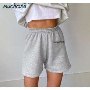 Шорты AliExpress SUCHCUTE women's shorts sweatpants casual sporty biker short cotton soft summer 2020 Streetwear High Waist homemade Clothes фото