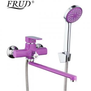 Смеситель для ванны FRUD сиреневый/хром R302 R22302 фото