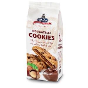 Печенье  Merba с шоколадом и ореховым кремом фото