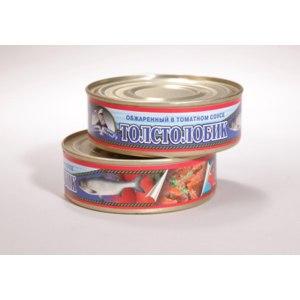 Консервы Хозяин морей Толстолобик обжаренный в томатном соусе фото