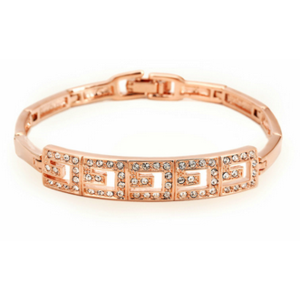 Браслет Aliexpress Top Qualiti 18K Rose/White Gold Plated Bracelet Jewelry Made with Genuine Austrian Crystals CZ Wholesale ZYH034 ZYH033 фото