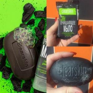 """Очищающее мыло Avon Clearskin с экстрактом древесного угля """"Сокращение пор и блеска"""" фото"""