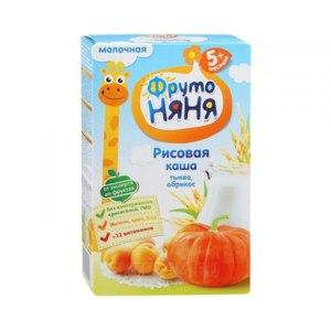 Детское питание Фруто Няня Рисовая каша с тыквой и абрикосом фото