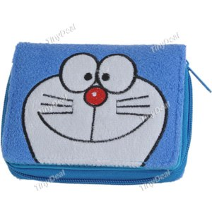 Кошелек Tinydeal Plush Embroidery Multi-Functional Wallet with Thread Reinforced for Kids Children - Doraemon Pattern NBG-49920  фото