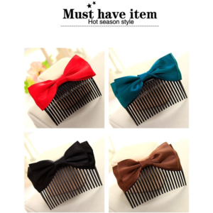 Заколка для волос Aliexpress Hot Selling Korean Hair Accessories Bowknot Ribbon Comb Upstyle Hairpins Wholesale фото