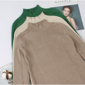 Пуловер AliExpress GIGOGOU Lurex Glitter Autumn Winter Women Sweater Knitted Rib Female Jumper High Elasticity Basic Women's Pullover Sweater  фото