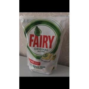 Таблетки для посудомоечной машины Fairy Original all in one 60 шт фото