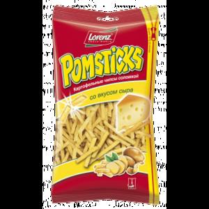 Чипсы картофельные Lorenz Pomsticks соломкой со вкусом сыра фото