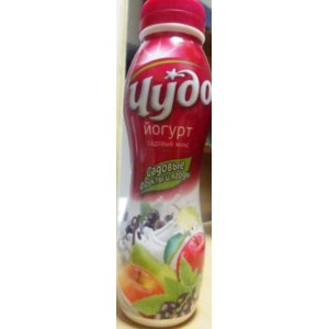 Йогурт Чудо Садовый микс. Садовые фрукты и ягоды  фото