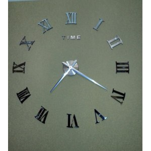 Часы настенные Aliexpress 2015 New fashion 3D big size wall clock mirror sticker DIY wall clocks home decoration wall clock meetting room wall clock фото