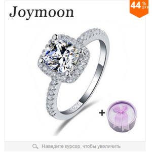 Кольцо Aliexpress Real 925 Sterling Silver Ring Engagement O Finger anel aneis de diamante CZ Diamond for Women Wedding Jewelry Pure 100% T0820 фото