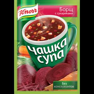 Супы быстрого приготовления Knorr Knorr Чашка супа борщ с сухариками фото