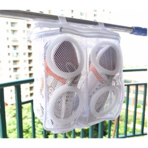 Чехол для стирки обуви в стиральной машине Aliexpress Washing Shoes Bag Mesh Net Pouch Washing Machine Cleaning Laundry Shoe Bag Care Case Dry Shoe Organizer фото