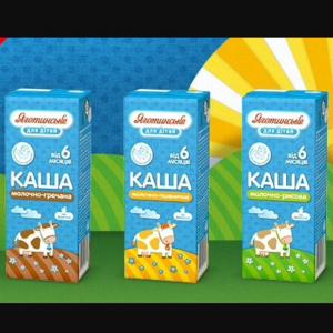 """Молочный продукт Яготинське для дiтей """"Каша"""" фото"""